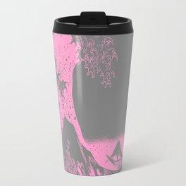 The Great Wave Pink & Gray Travel Mug