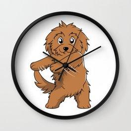 Flossing Goldendoodle Floss Dance  Wall Clock