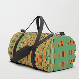 Rectangle checkered Design green Duffle Bag