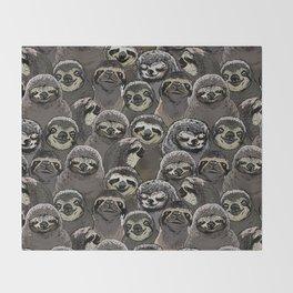 Social Sloths Throw Blanket
