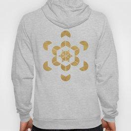 HEXAHEDRON CUBE sacred geometry Hoody