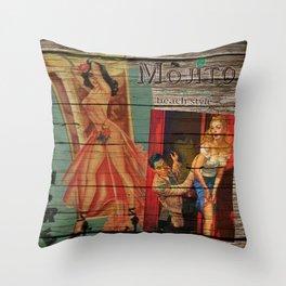mojito beach style - cuba libre Throw Pillow