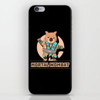 mortal instruments iPhone & iPod Skins featuring Mortal Wombat by Sombras Blancas Art & Design