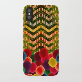 Chevron And Dots iPhone Case