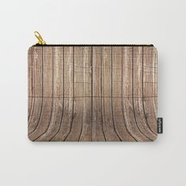 Realistic wood background Carry-All Pouch