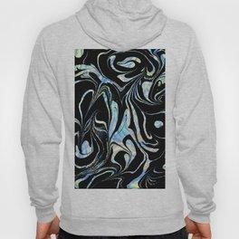 Black and Pastel Marble Swirls Hoody