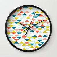 colombia Wall Clocks featuring Colombia by Menina Lisboa