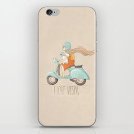 I love Vespa iPhone Skin