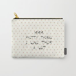 Mmm, pretty things ~ Polka Dots ~ poster ~ typography ~ illistration Carry-All Pouch
