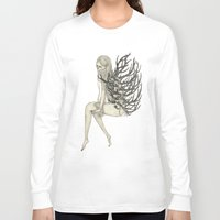antler Long Sleeve T-shirts featuring ANTLER by auntikatar