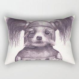 Papillon Knight - Medieval Dog Rectangular Pillow