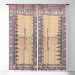 Baluch Sofreh Khorasan Northeast Persian Food Cover Print Sheer Curtain