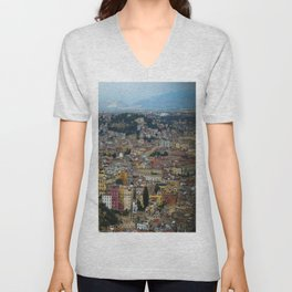 Napoli view Unisex V-Neck