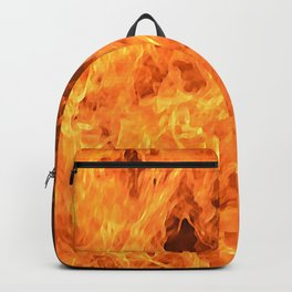 fire, as if painted Backpack