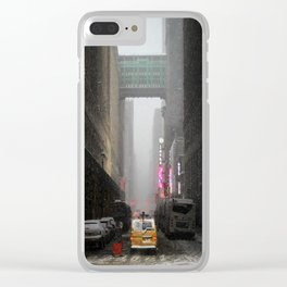 Snow Empire - NYC Clear iPhone Case
