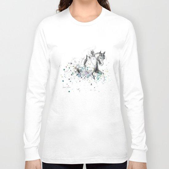 Horse (Rainy canter) Long Sleeve T-shirt