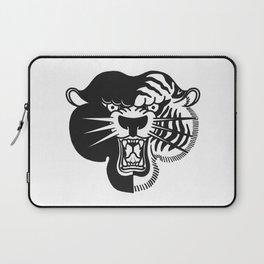 Half Tiger Half Panther Laptop Sleeve