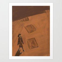 She walks alone Art Print