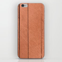 Rose gold antique wood iPhone Skin