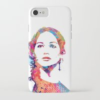 katniss iPhone & iPod Cases featuring Katniss by lauramaahs
