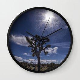 Joshua Tree and Sunshine in Joshua Tree National Park California Wall Clock