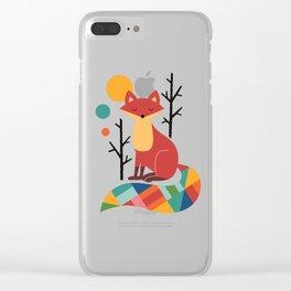Rainbow Fox Clear iPhone Case