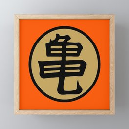 Kame kanji Framed Mini Art Print