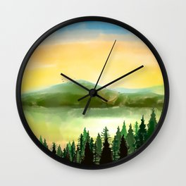 Lake Mountain Wall Clock