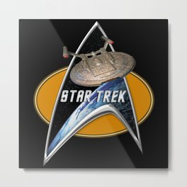 StarTrek Enterprise NX01  Command Signia Chest Metal Print