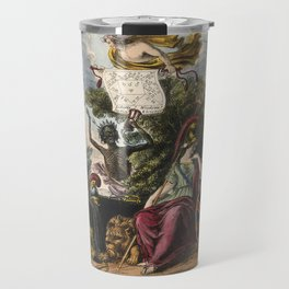 Raphael's Prophetic Almanack: a funeral, war, and riotous assembly (1838) Travel Mug