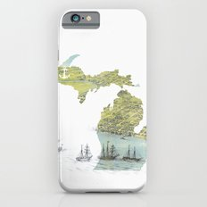 Ships Along the Shore - Michigan circa 1868 Slim Case iPhone 6s