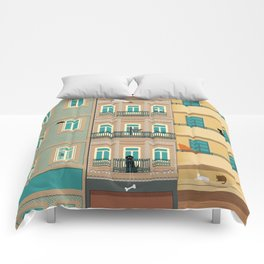 Porto Houses - Portugal Comforters