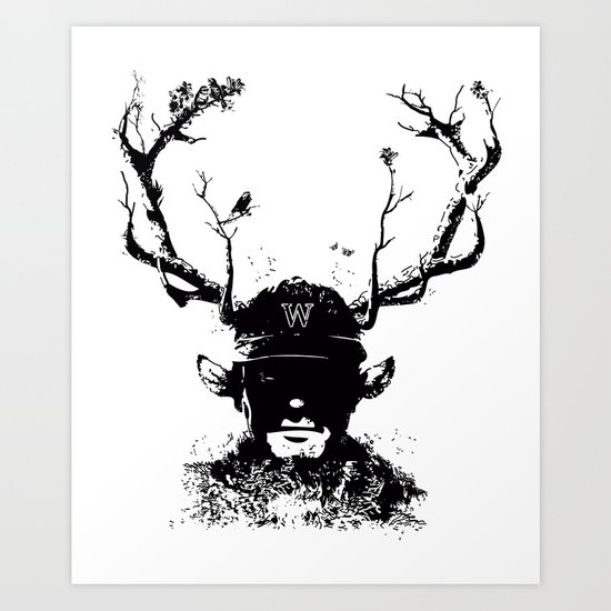 BOY FROM THE WOOD Art Print