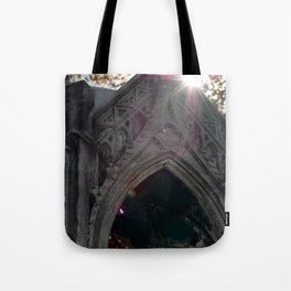 Temple in the eye Tote Bag