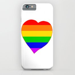 LGBT Rainbow Colors Heart iPhone Case