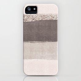 Blush tones watercolor ombre gold glitter brushstrokes iPhone Case