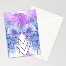 Flower Explosion - Blue/Purple Stationery Cards