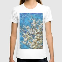 Blossom and Blue Sky In Monet Style T-shirt