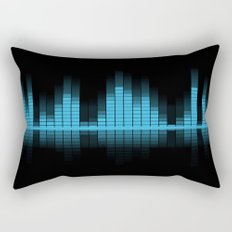 Blue Graphic Equalizer Rectangular Pillow