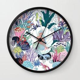 mermaids Kingdom Wall Clock