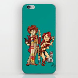 The Doctor, The Warrior, and K-9 iPhone Skin