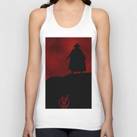 vendetta Tank Tops featuring V for Vendetta (e3) by Ezgi Kaya