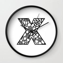 Letter X Wall Clock