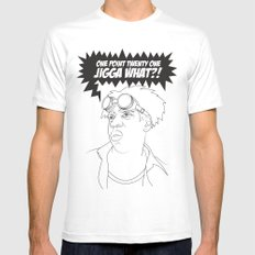 Black To The Future MEDIUM Mens Fitted Tee White