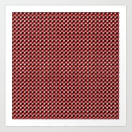 black and red block pattern Art Print