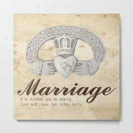 Married in October Metal Print