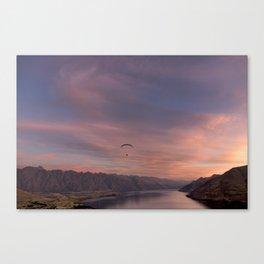 Sunset over Lake Wakatipu Canvas Print