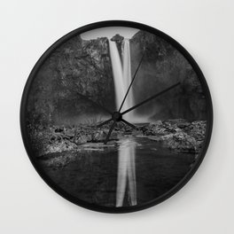 Reflecting Falls Wall Clock