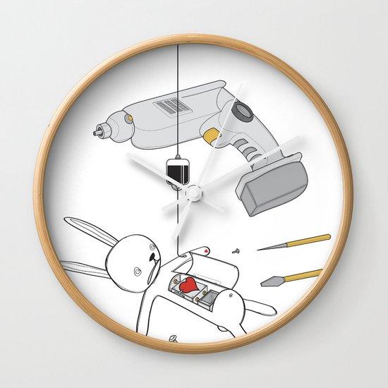 RABBIT FIX (SAVED RABBIT SERIES 2) Wall Clock
