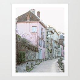 Montmartre Street - Paris Travel Photography Art Print